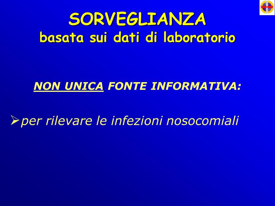 basata sui dati di laboratorio NON UNICA FONTE INFORMATIVA: