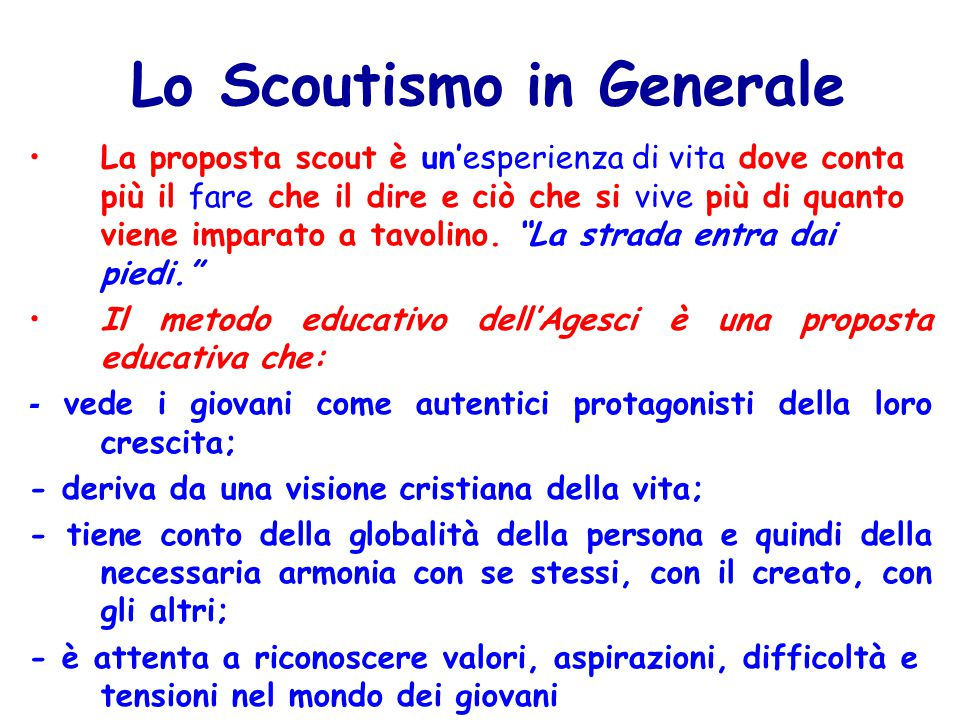 Lo Scoutismo in Generale