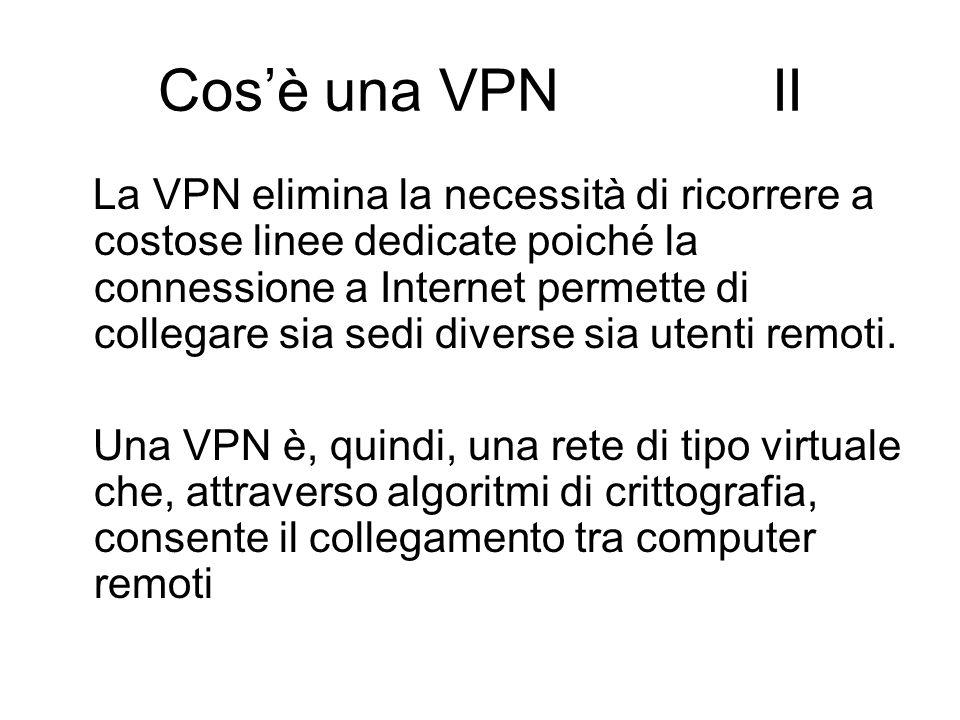 Cos'è una VPN II