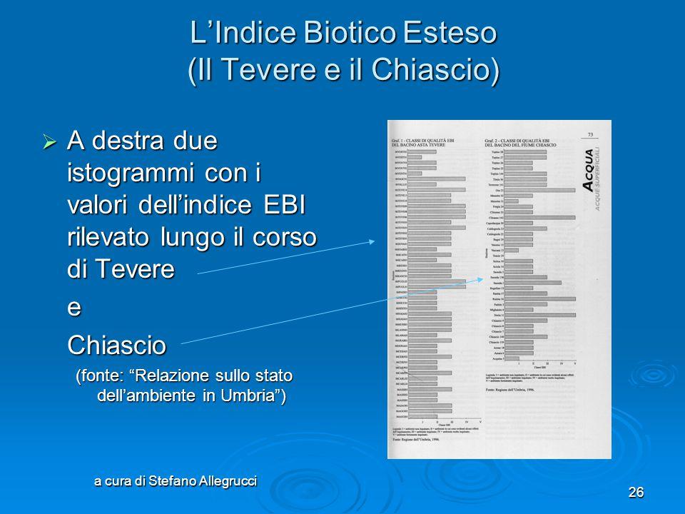L'Indice Biotico Esteso (Il Tevere e il Chiascio)