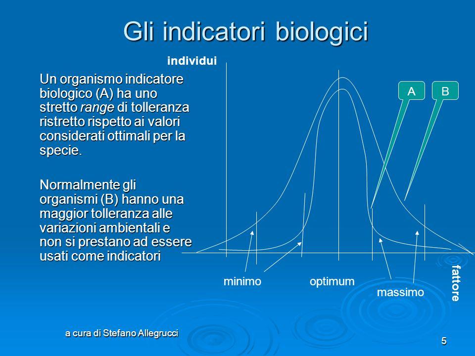 Gli indicatori biologici