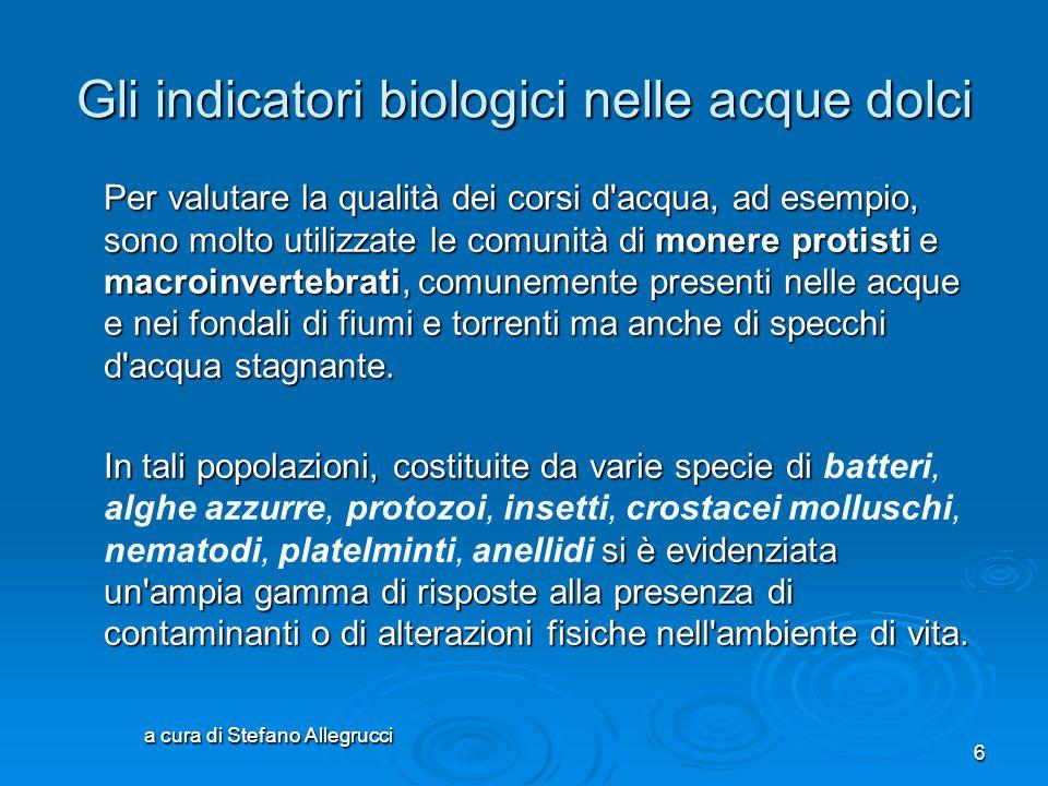 Gli indicatori biologici nelle acque dolci