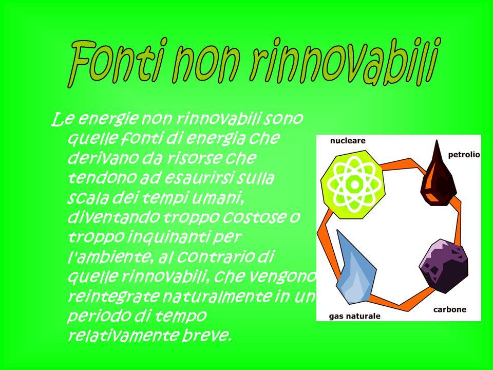 Fonti non rinnovabili