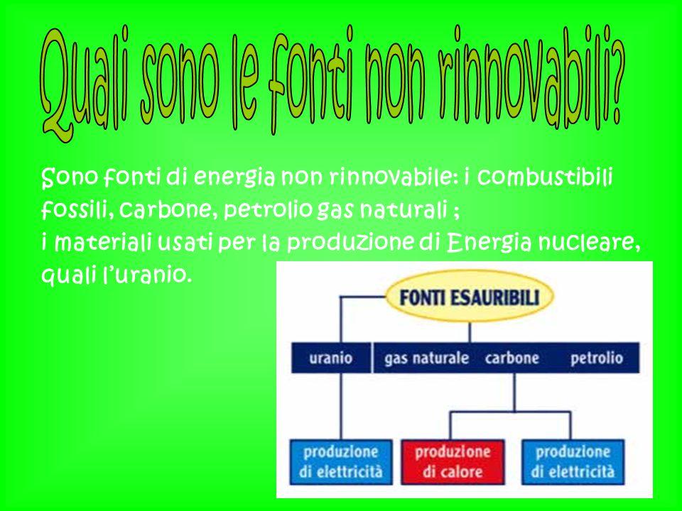 Quali sono le fonti non rinnovabili