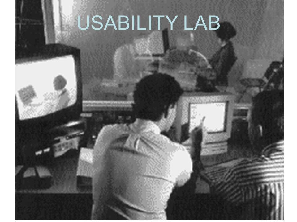 USABILITY LAB Foto dal Nomos Usability Lab, in http://www.nomos.se/index.html