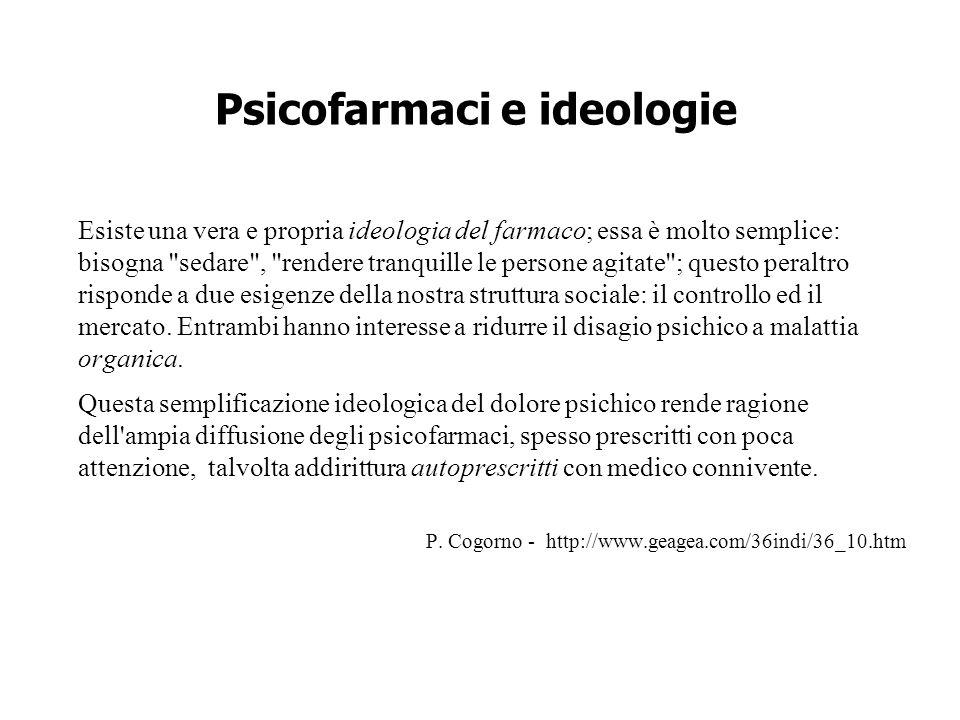 Psicofarmaci e ideologie