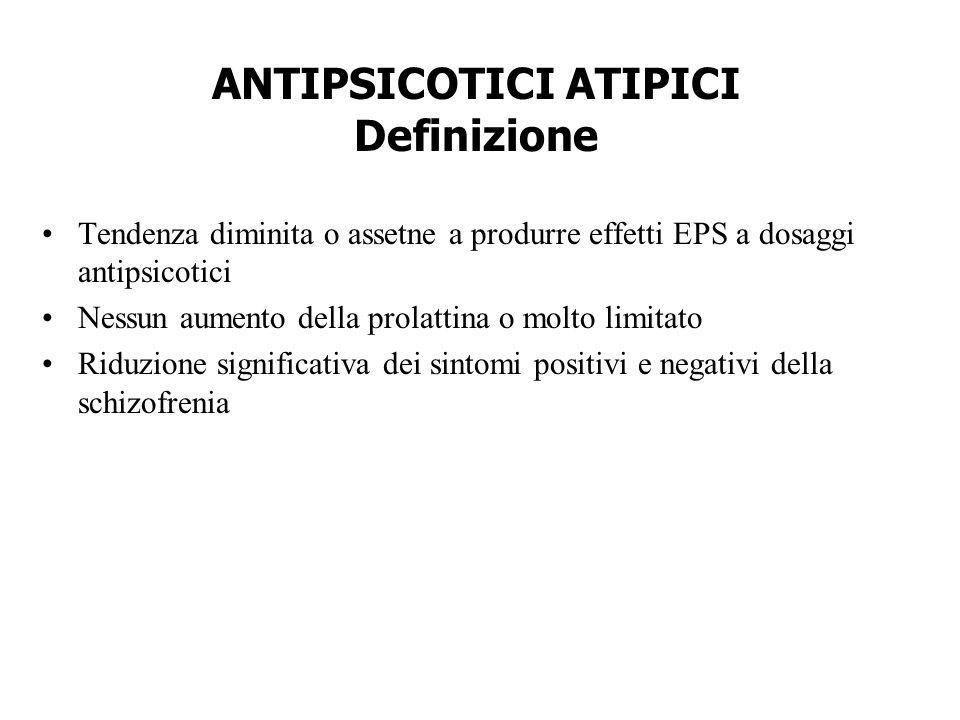 ANTIPSICOTICI ATIPICI Definizione