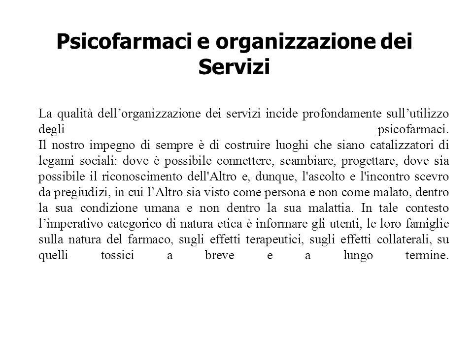 Psicofarmaci e organizzazione dei Servizi