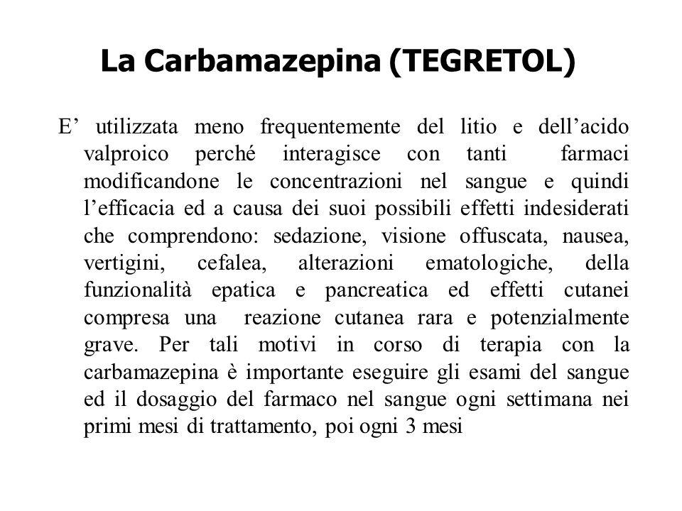 La Carbamazepina (TEGRETOL)