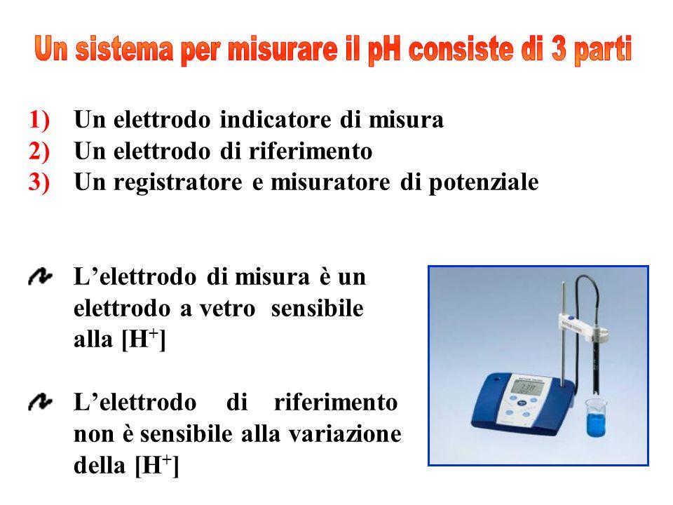 Un sistema per misurare il pH consiste di 3 parti