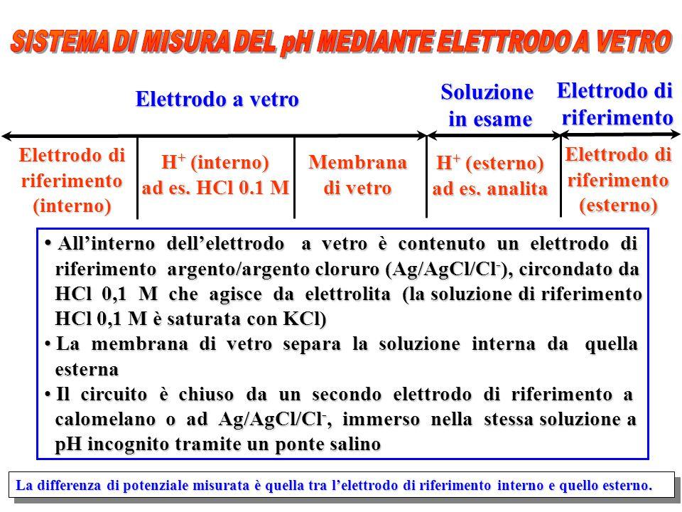 SISTEMA DI MISURA DEL pH MEDIANTE ELETTRODO A VETRO
