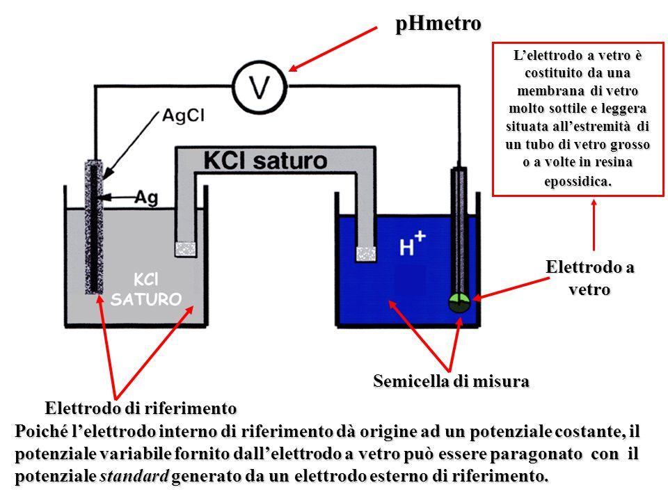 pHmetro Elettrodo a vetro Semicella di misura Elettrodo di riferimento