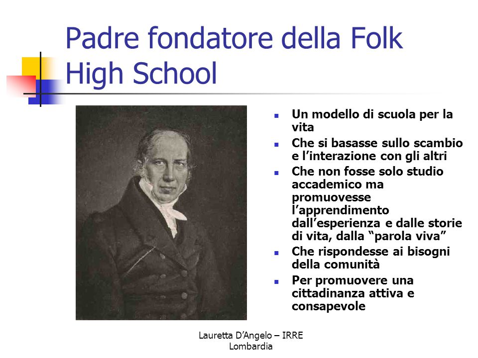 Padre fondatore della Folk High School