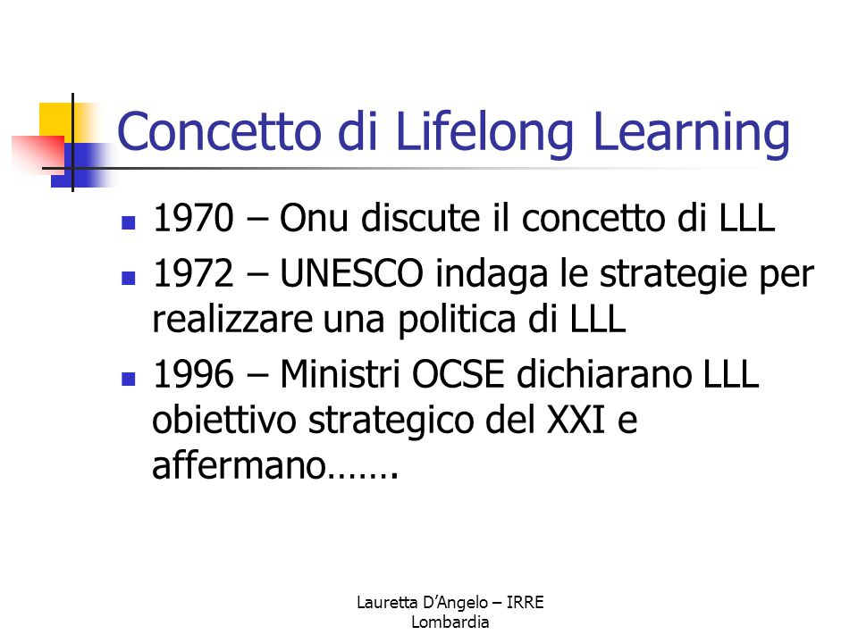 Concetto di Lifelong Learning