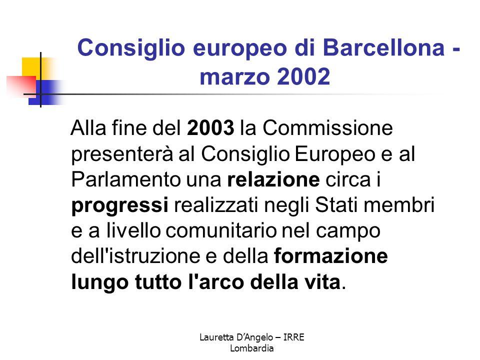 Consiglio europeo di Barcellona - marzo 2002