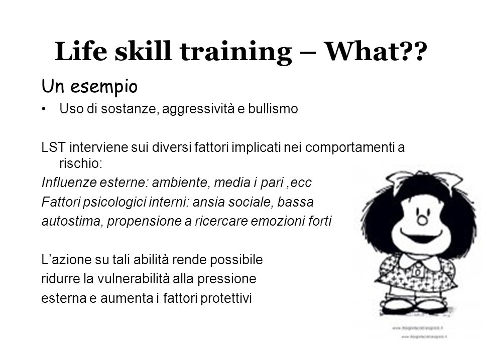 Life skill training – What