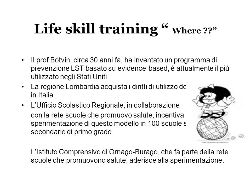 Life skill training Where