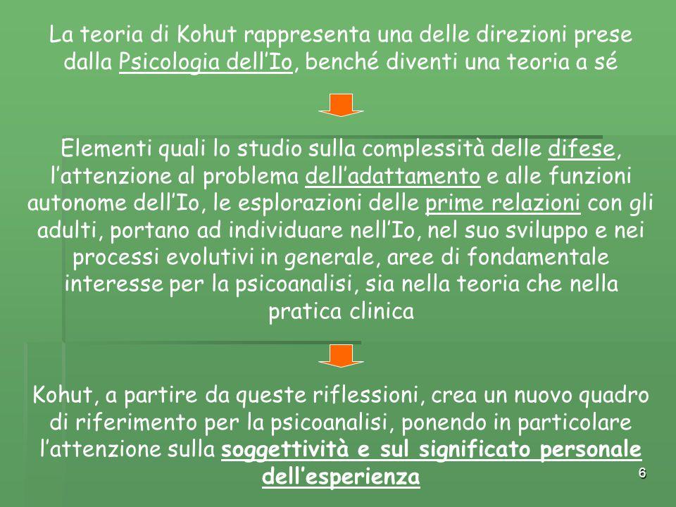 La teoria di Kohut rappresenta una delle direzioni prese dalla Psicologia dell'Io, benché diventi una teoria a sé