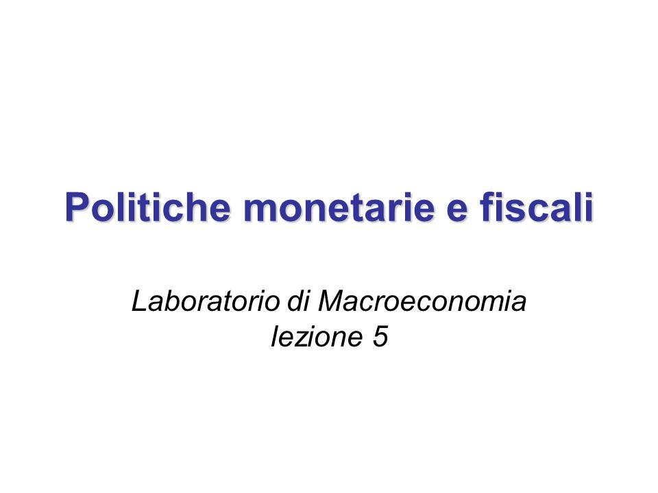Politiche monetarie e fiscali