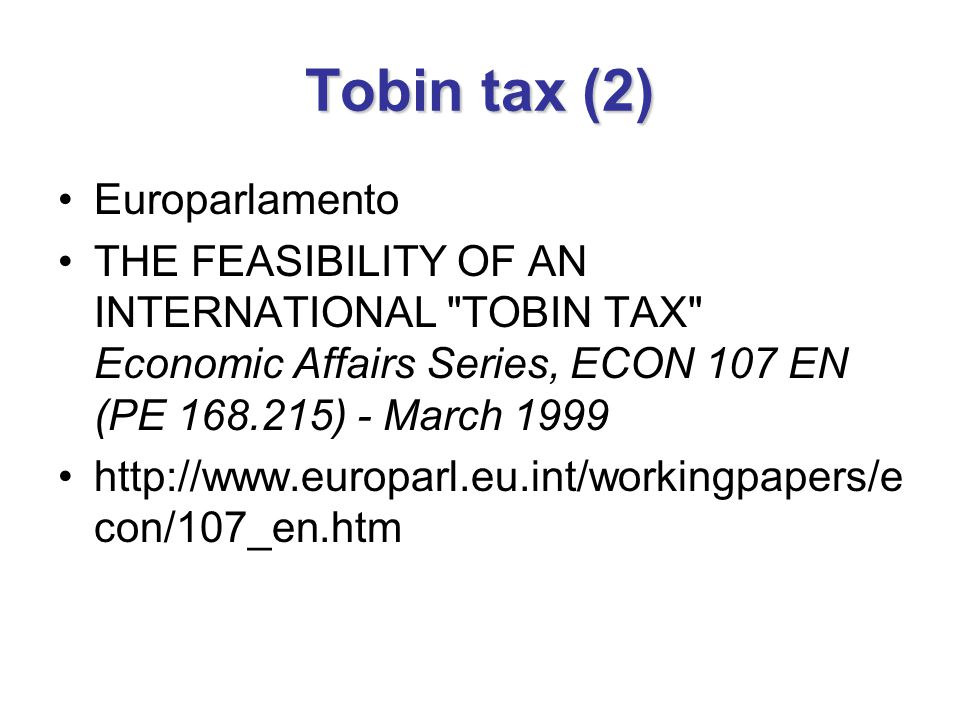 Tobin tax (2) Europarlamento