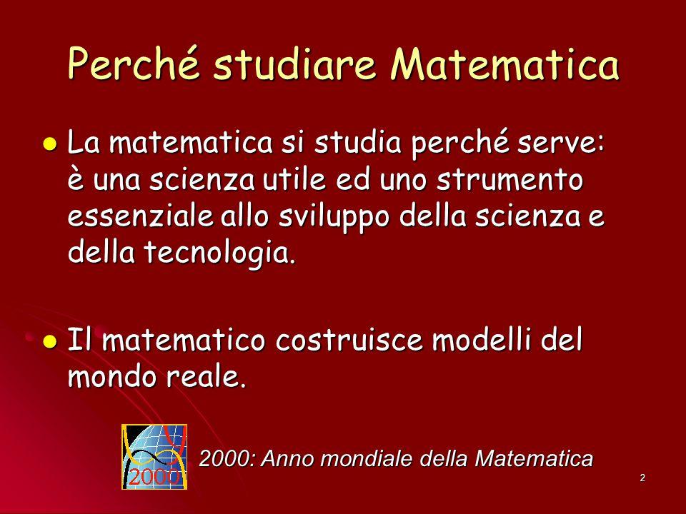 Perché studiare Matematica