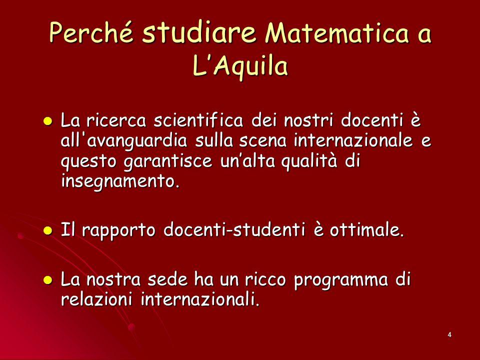 Perché studiare Matematica a L'Aquila