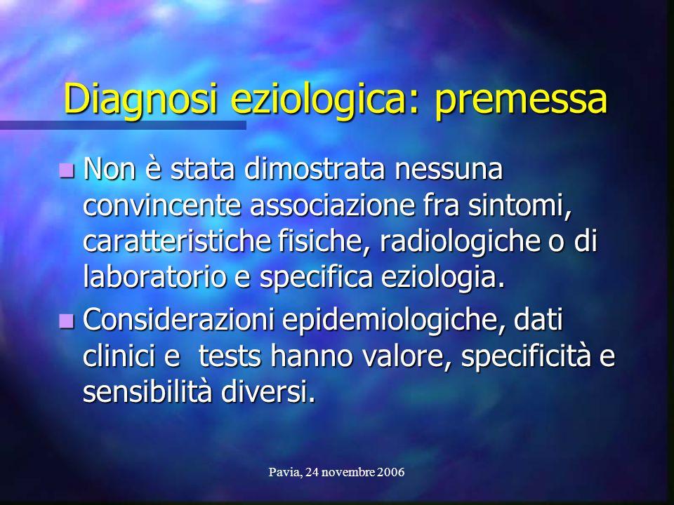 Diagnosi eziologica: premessa