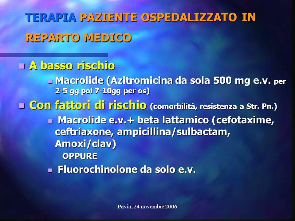 TERAPIA PAZIENTE OSPEDALIZZATO IN REPARTO MEDICO