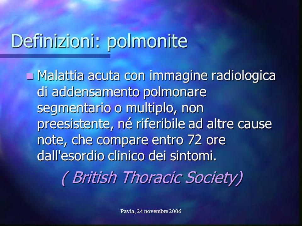 Definizioni: polmonite