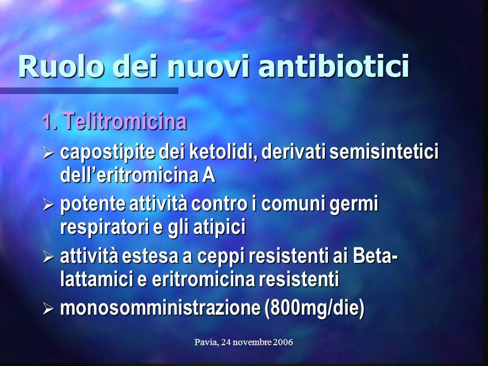 Ruolo dei nuovi antibiotici