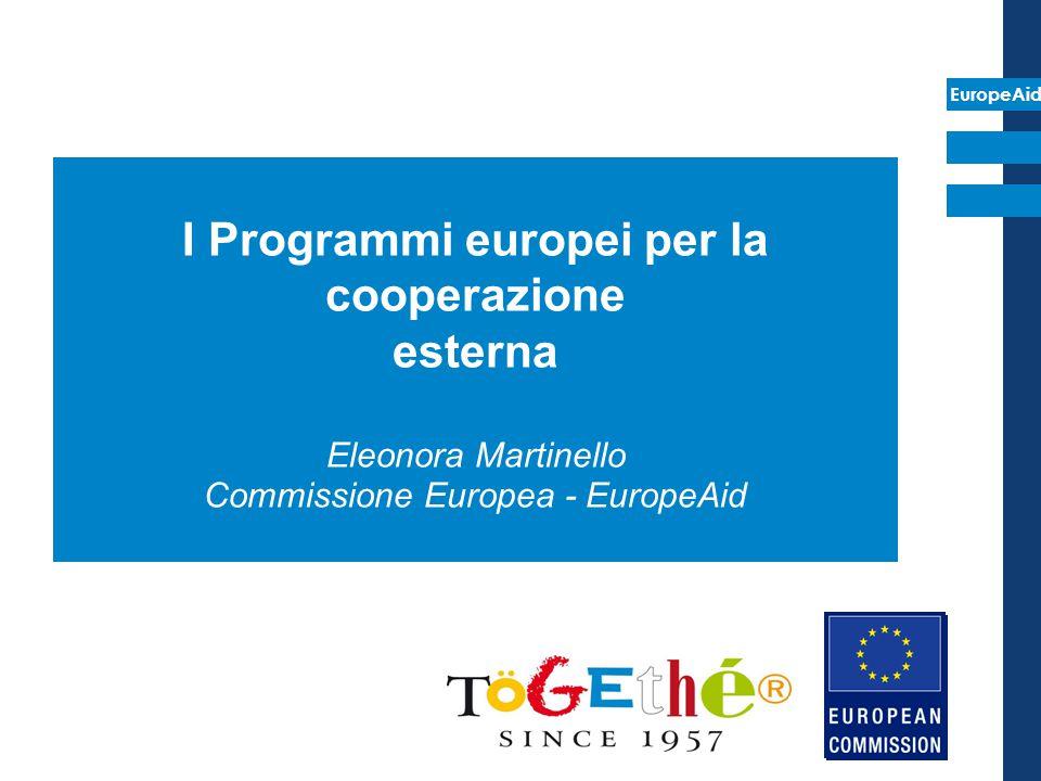 I Programmi europei per la cooperazione esterna