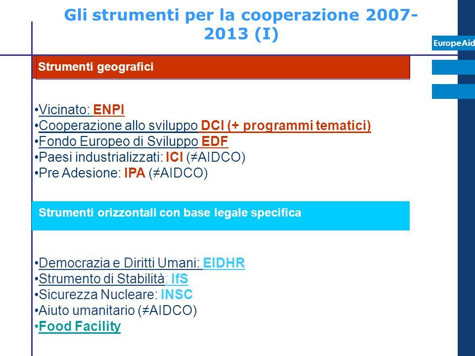 Gli strumenti per la cooperazione 2007-2013 (I)