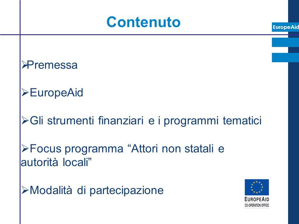 Contenuto Premessa EuropeAid