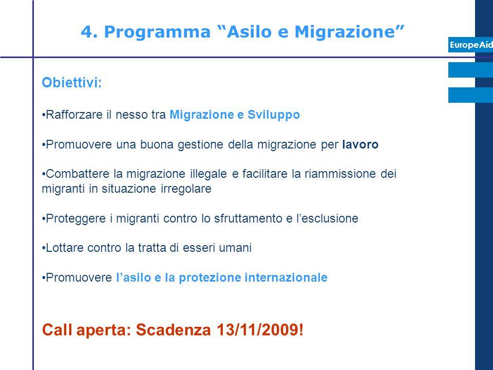 4. Programma Asilo e Migrazione