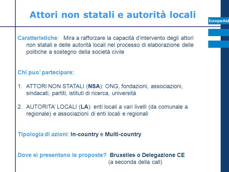 Attori non statali e autorità locali