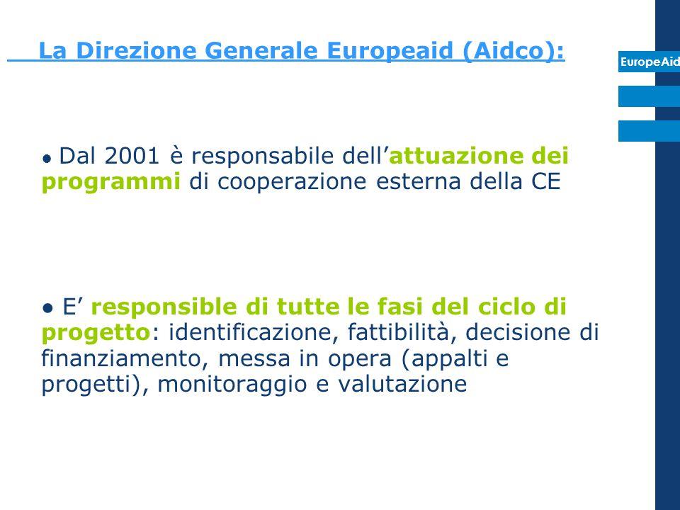 La Direzione Generale Europeaid (Aidco):