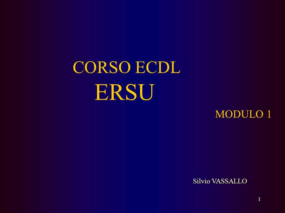 CORSO ECDL ERSU MODULO 1