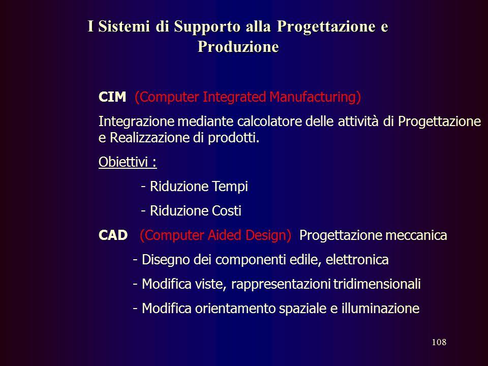 I Sistemi di Supporto alla Progettazione e Produzione