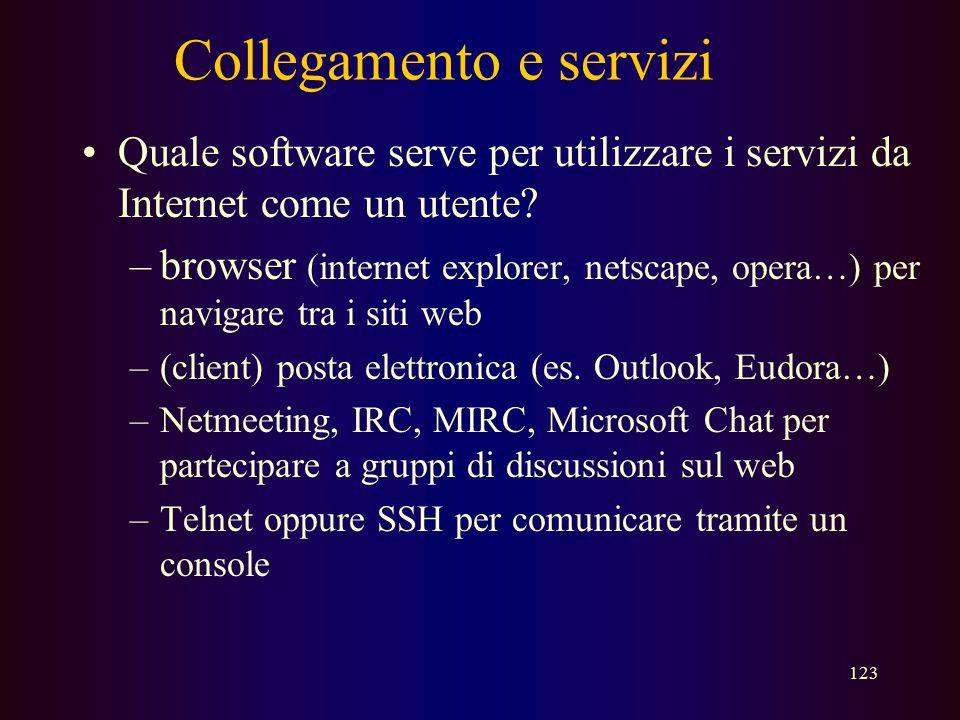 Collegamento e servizi