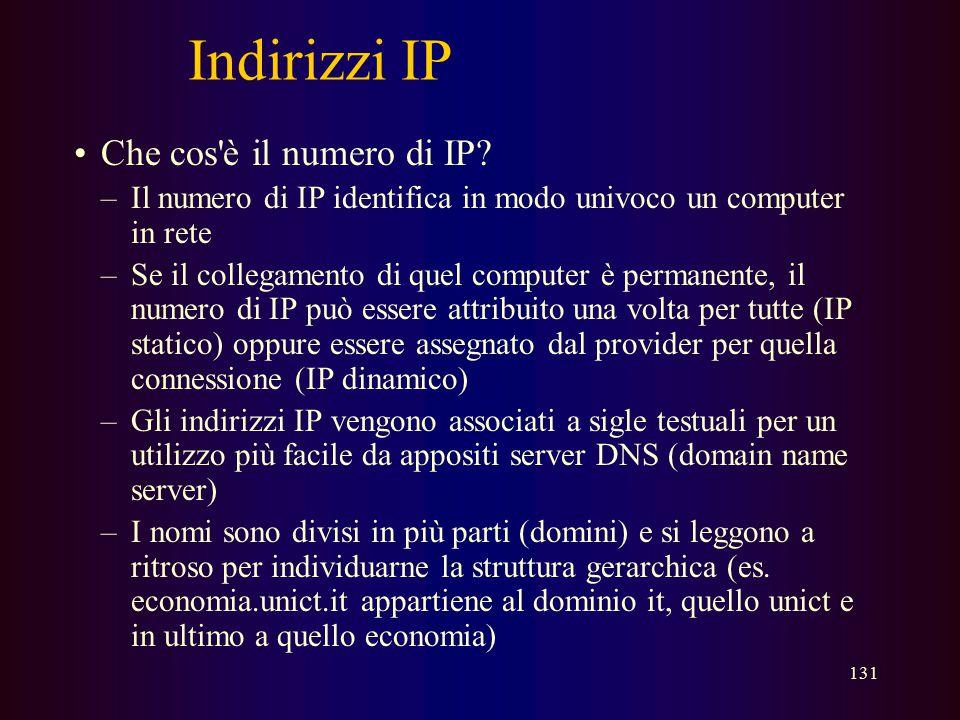 Indirizzi IP Che cos è il numero di IP