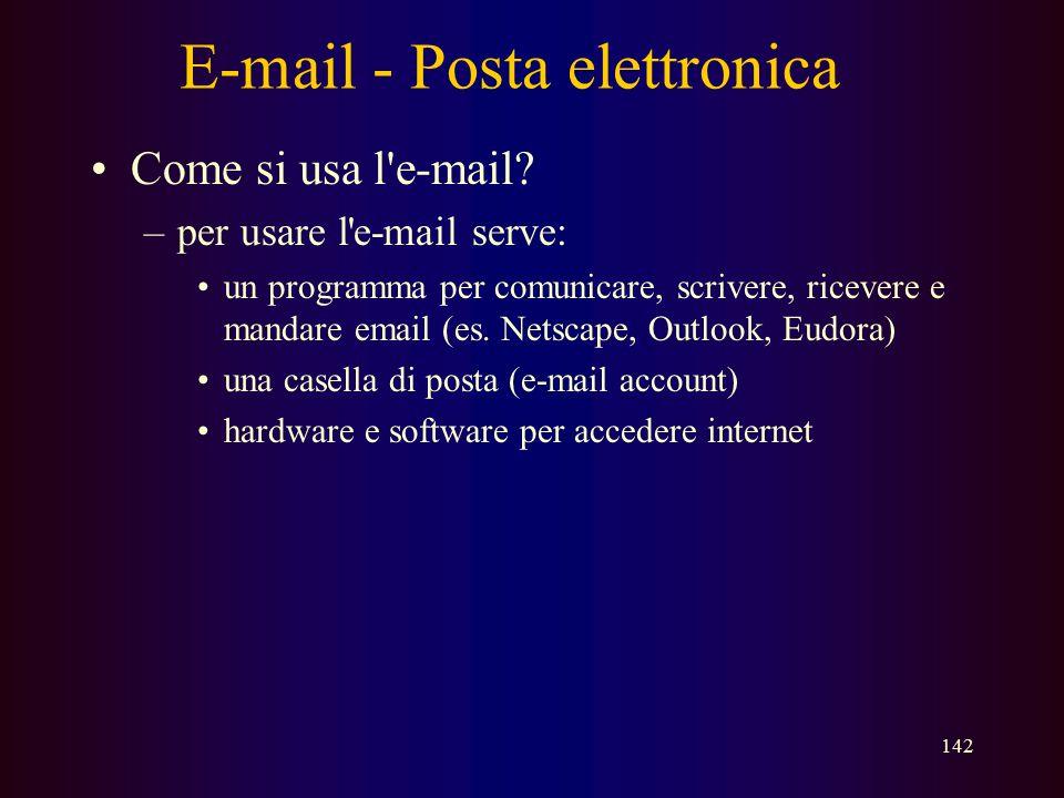 E-mail - Posta elettronica