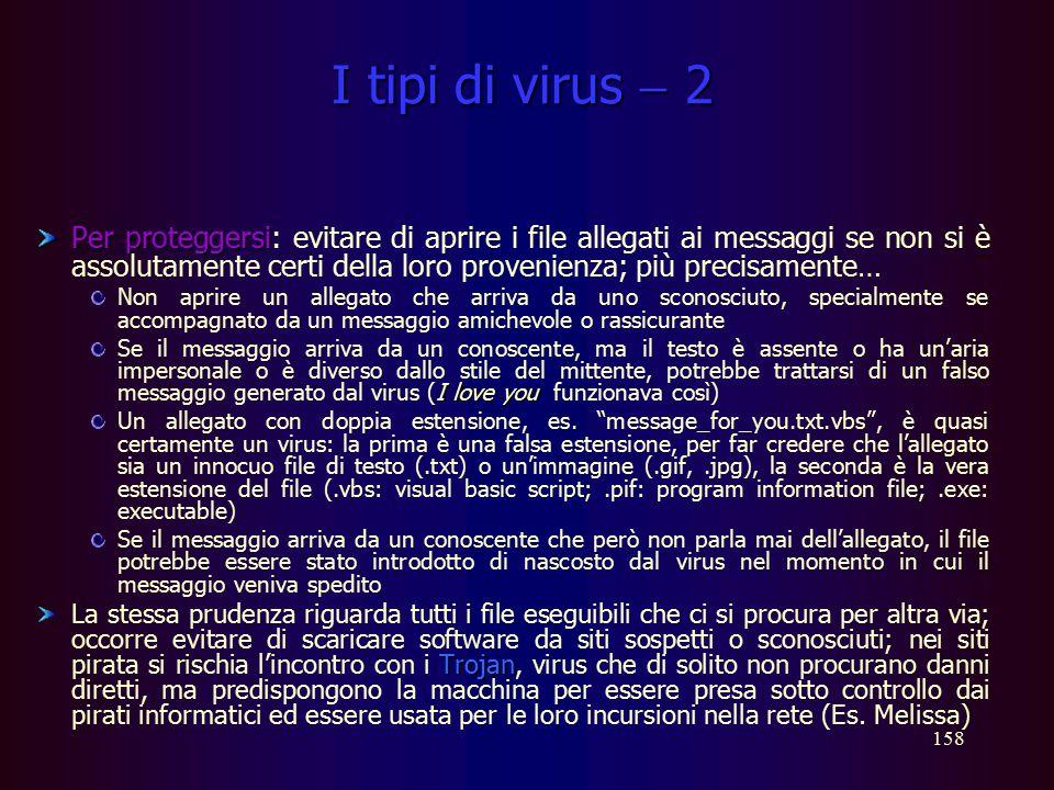 I tipi di virus  2