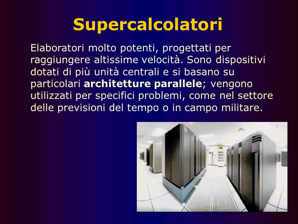 Supercalcolatori