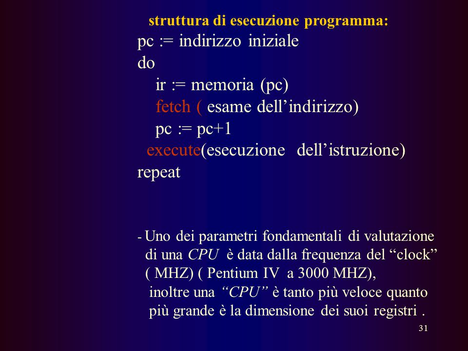 struttura di esecuzione programma: