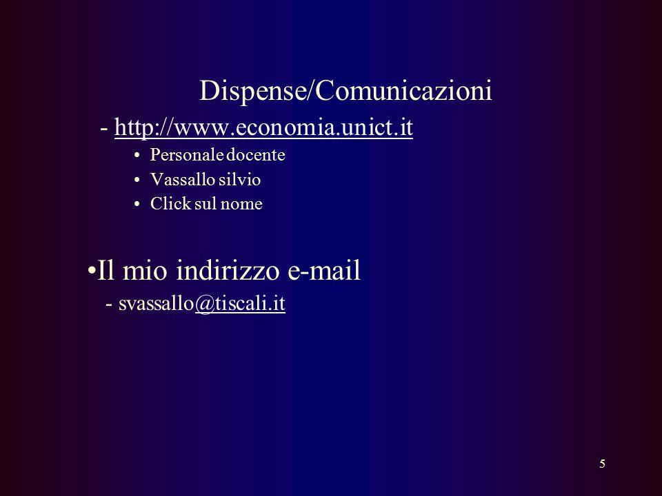 Dispense/Comunicazioni