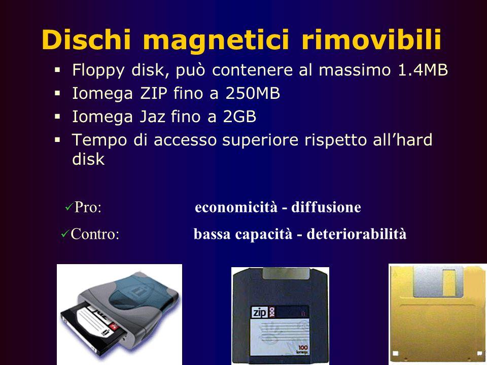Dischi magnetici rimovibili