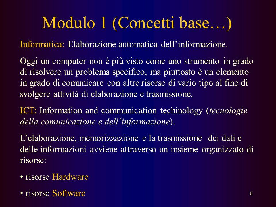Modulo 1 (Concetti base…)