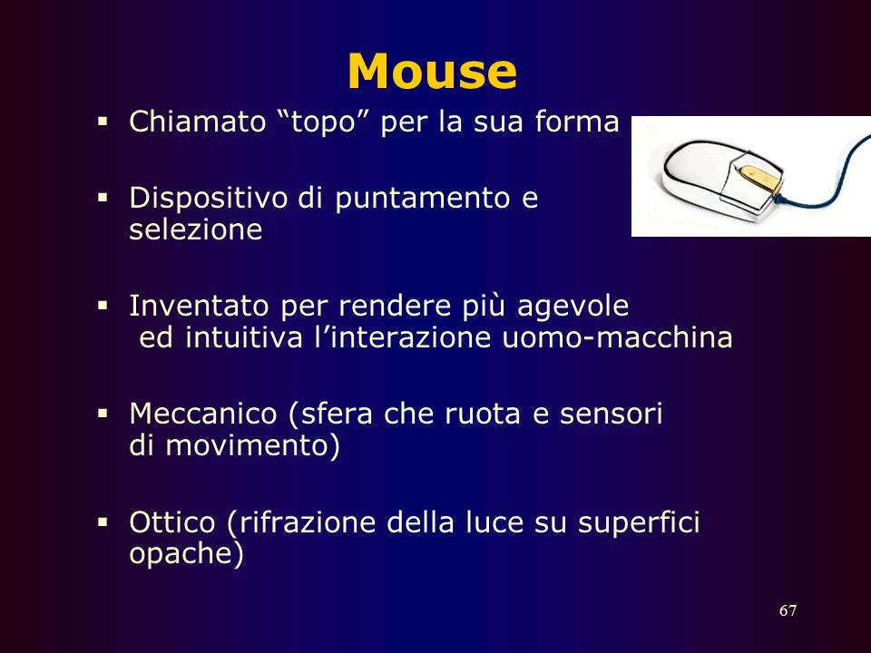 Mouse Chiamato topo per la sua forma