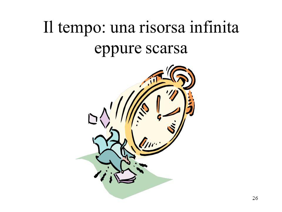Il tempo: una risorsa infinita eppure scarsa