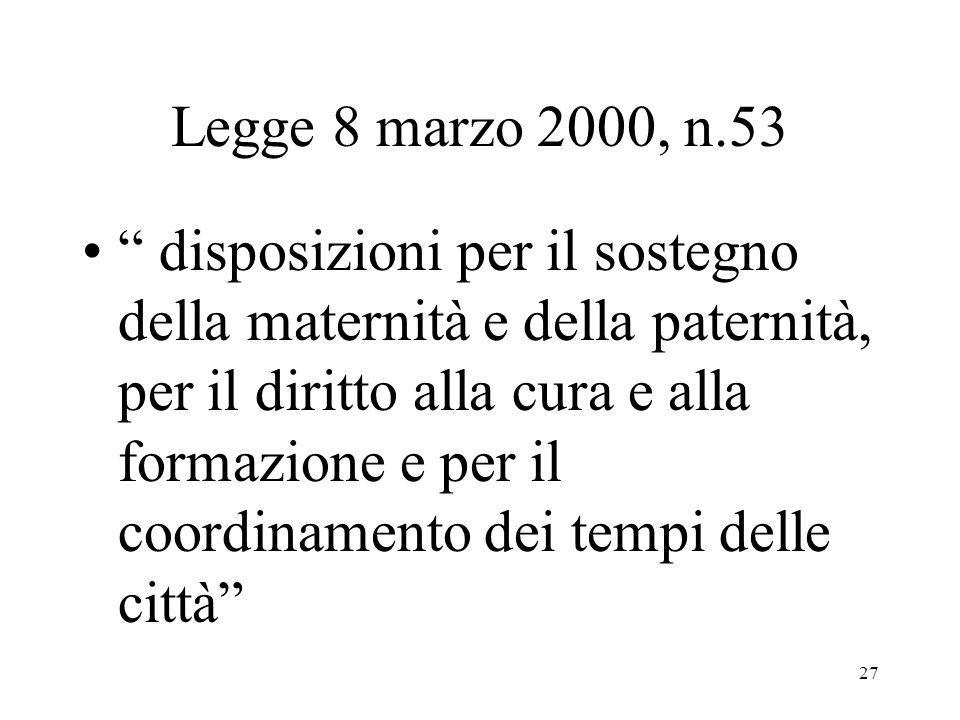 Legge 8 marzo 2000, n.53